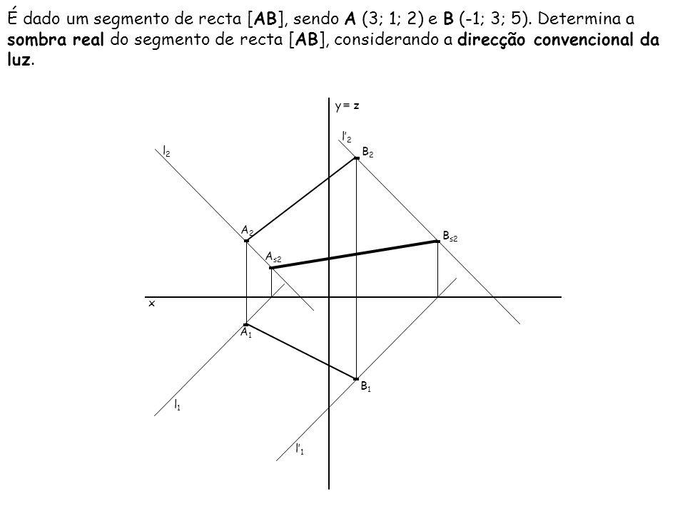 É dado um segmento de recta [AB], sendo A (3; 1; 2) e B (-1; 3; 5)